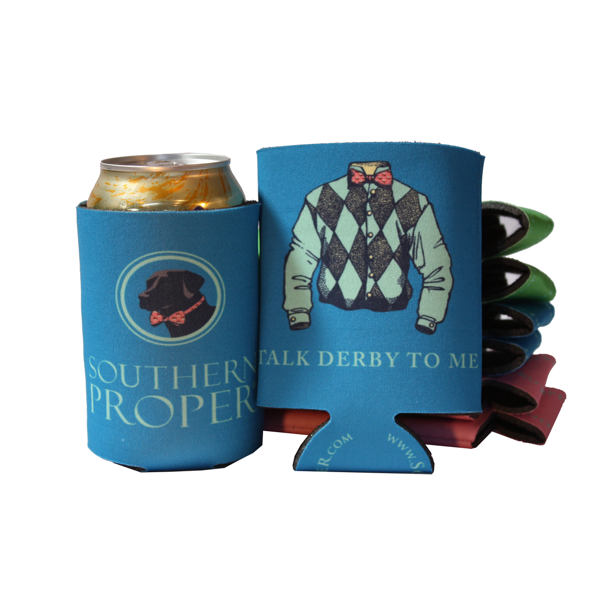Blue Talk Derby Coozie